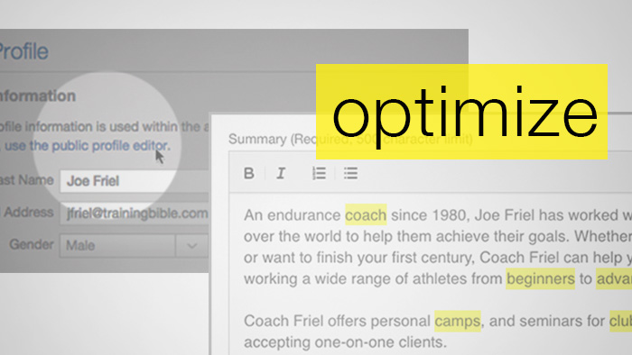 How to Optimize Your Coach Profile