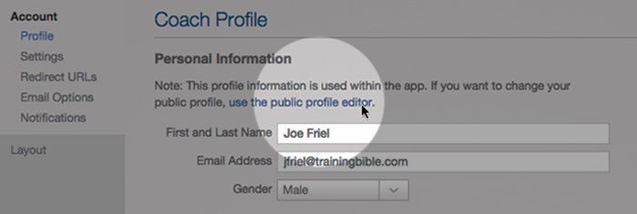 joe-friel-settings-screen-shot