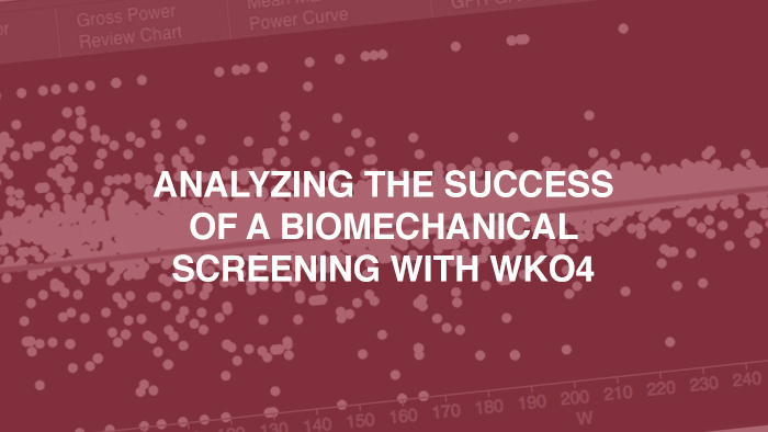 Analyzing The Success Of a Biomechanical Screening With WKO4