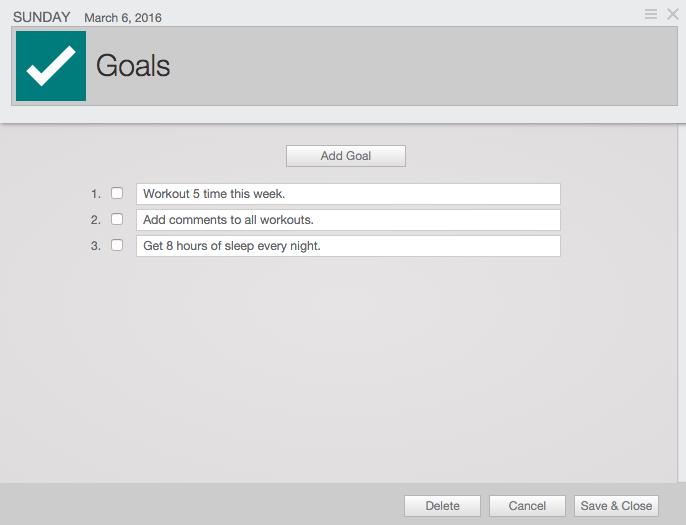 TrainingPeaks Future Goals