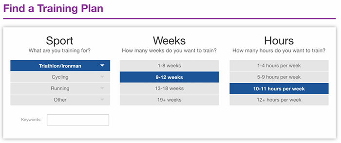 find-a-training-plan
