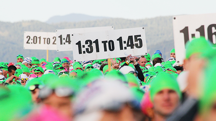 image of runners staging with pre-race nerves