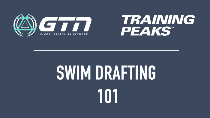 swim drafting for a triathlon