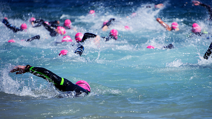 Managing Risk During The Swim Leg of A Triathlon