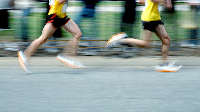 short distance running